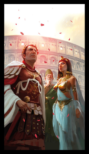 tiny-librarian:  Caesar and Cleopatra, looking rather badass.  from browse.deviantart