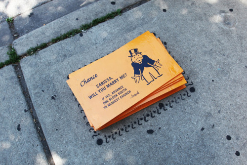 laughingsquid:  Monopoly Game Street Art Found on the Sidewalks of Chicago
