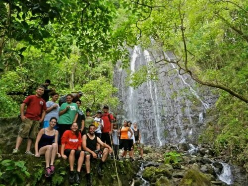 its a cool, COOL SUMMER!! Hamama falls… Just Average Hikers -JAH! Super fun Hiking with big groups.   Kaneohe, Hawaii