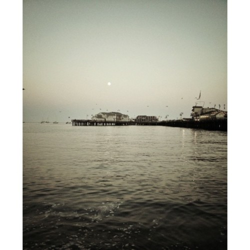 #fullmoon #ocean #evening #wharf #notasunset (Taken with Instagram)