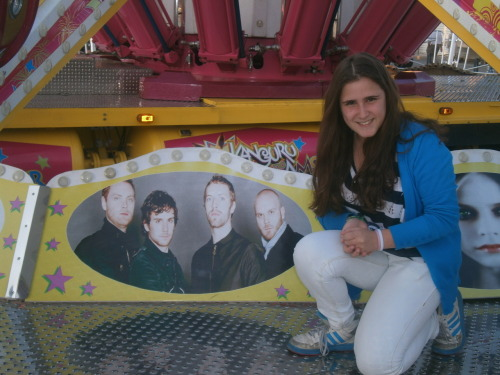 Me with Coldplay #2 I'm just so awkward  in this picture