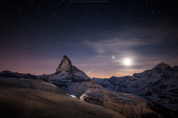 matterhorn n moonlight shining by CoolbieRe on Flickr.