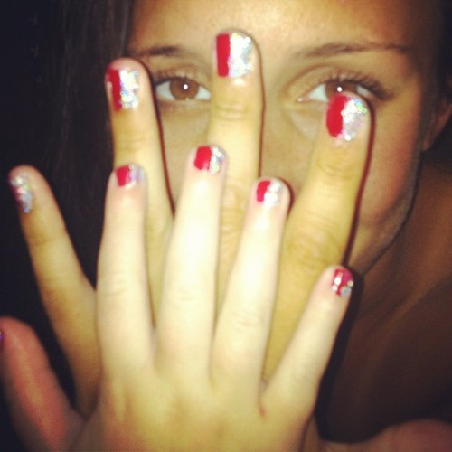 Tiernan's and mine amurica nails! (Taken with Instagram at West Long Branch)