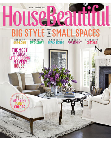 House Beautiful July/August 2012 cover