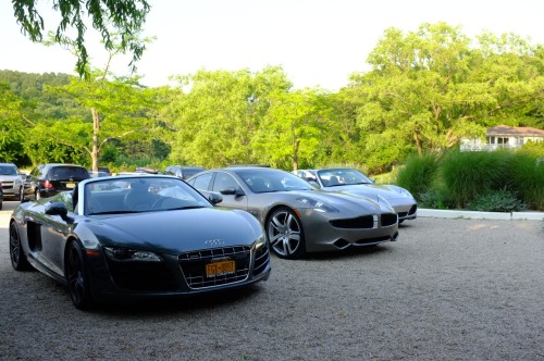 Some of the cars outside Friday's @HarryWinston event. Pretty, pretty good. Story here.