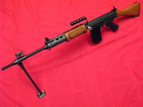 SAR-48 Match Springfield Armory imported several FAL variants under the SAR name, much like the G3 variants. This is an Israeli Heavy Barrel FAL. There was also a Light Barrel version. I believe the receivers are from IMBEL in Brazil. One of my favorite FAL variants.