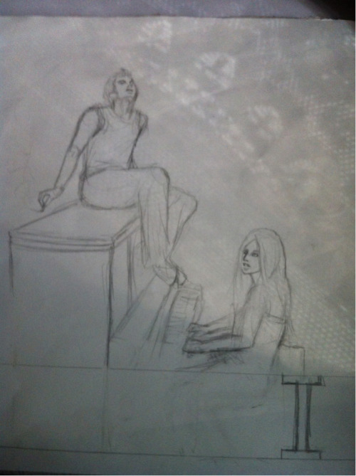marvolomars:  Haha I just found this sketch of the You and I video I did last year!  I'm totally gonna redo it cuz I've improved so much since then!