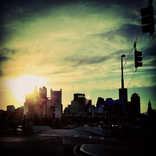 #city #sunset  (Taken with Instagram)