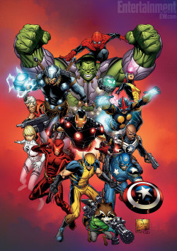"""Marvel Now"" concept art. July, 2012. Art by Joe Quesada.*"
