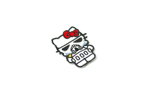 1112pm:  Selling exclusive Hello Kitty Storm Trooper patches! Only $8 each. (Can be used on backpacks, bags, sweaters, etc.) ALL PROCEEDS GO TO CHARITY!!! Order on Griffonindustries.com and use special promotion code (1112) for free shipping! Please help me out :) Thank you