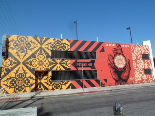 irishredsin:  Wall mural in Hollywood, Ca Shepard Fairey