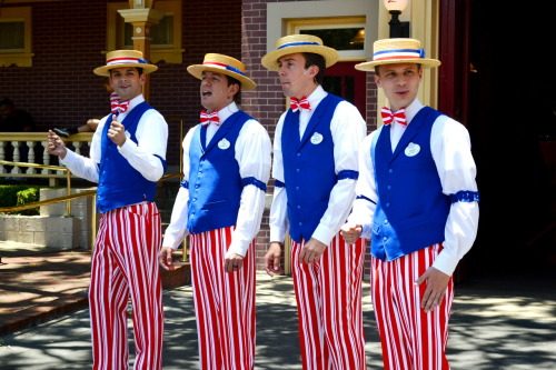 Dapper Dans for the 4th of July Mainstreet, Disneyland