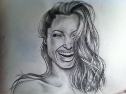 Most recent; angelina Jolie portrait, pencil, a3. Sexy motherfucker en she