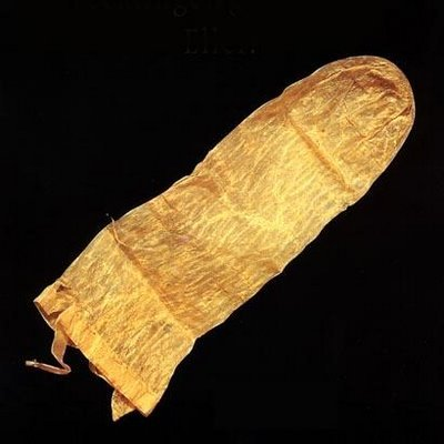 theoddmentemporium:  This is a reusable condom dat[ing] back to 1640 and completely intact, as is its orginal users' manual, written in Latin.The manual suggests that users immerse the condom in warm milk prior to its use to avoid diseases.The antique, found in Lund in Sweden, is made of pig intestine and was one of 250 ancient objects related to sex on display at the Tirolean County Museum in Austria in 2006.