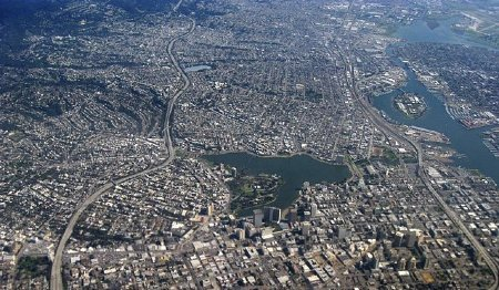 good:  Oakland Getting First Urban Network of CO2 Sensors California has a cap-and-trade law that goes into effect Jan. 1, and the new sensors might be the best way to figure out whether or not it's actually effective. Scientists are spreading 40 of them across a 27 square-mild grid in Oakland, creating a much better measurement framework than the dozen or so sensors that currently exist. Find out more at GOOD.is