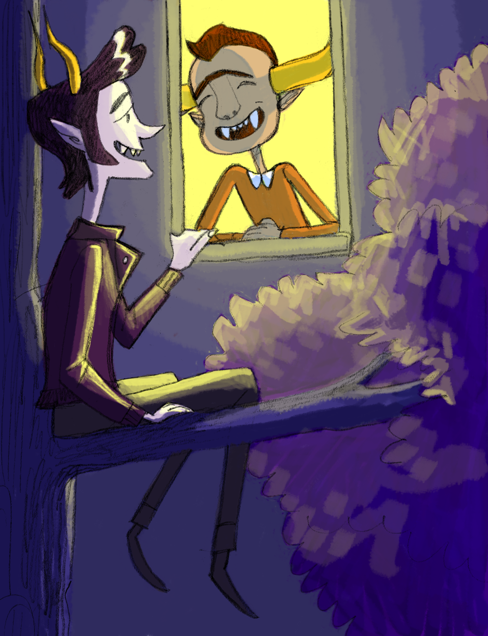 he's not allowed to be out late, but gamzee still comes over for slam poetry sessions