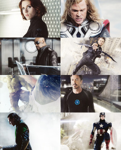 the avengers in silver ↠ requested by caraspecter.