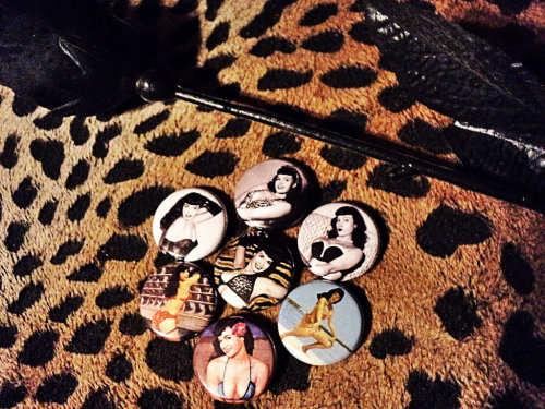 Bettie Page Pins.
