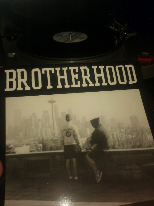 waxobsession:  Brotherhood - Words Run…As Thick As Blood third press - Crucial Response Records (1989) The genesis of NWHC!