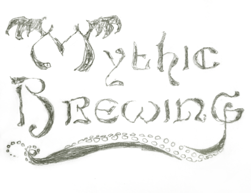 A little preview of my work with Vancouver Island's Mythic Brewing company!! I never do typography and it's been a pleasant surprise just how much fun it is. Please do forgive the typological sins I'm quite sure are peppered throughout this work; The logo's in the goofing around stage (technical art-person term) so this is just rough. I'm creating five labels for their delicious beers so check back for more updates on the project as it emerges like the Lord Cthulu from the black depth.
