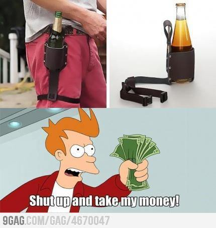9gag:  Shut up and take my money! Beer anywhere!