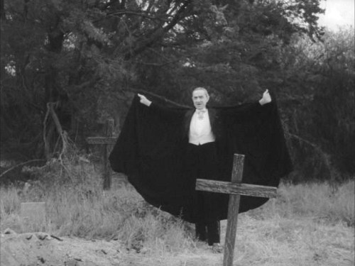 Bela Lugosi in footage shot for Plan 9 From Outer Space (1959)