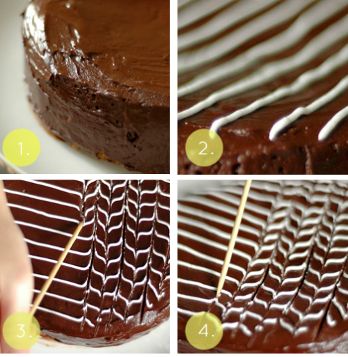 thecakebar:  Elegant and Simple Fan and Feather Cake Decoration