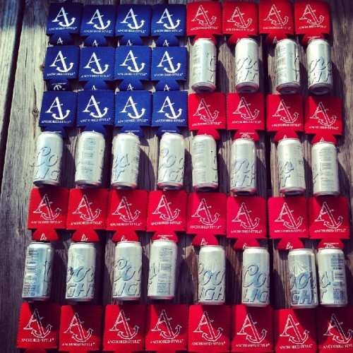 anchoredstyle:  Celebrate being an #American. #koozies #beer (Taken with Instagram)