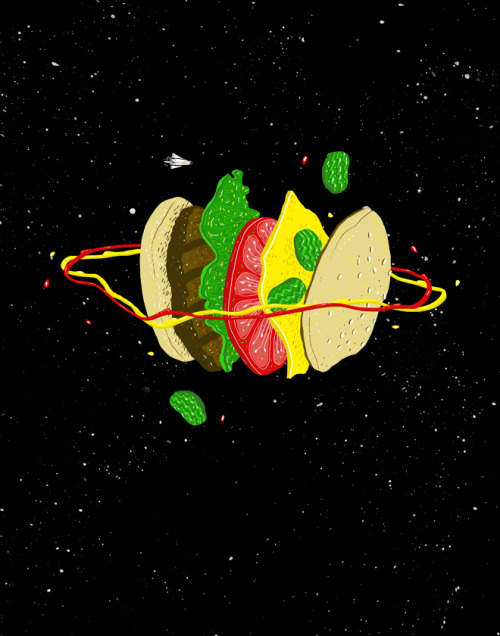 Planetary Discovery 8932: Cheeseburger This is also up for voting at Threadless.com!! If it wins you'll be able to get it on a shirt!!! Just click on the image to vote for it! :)
