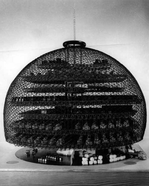 polychroniadis:  BUCKMINSTER FULLER'S UNBUILT AUTOMATIC COTTON MILL, 1952.
