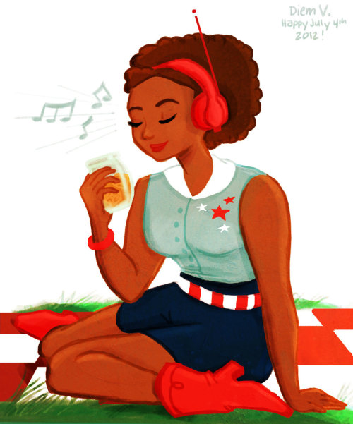 Southern Sweet Tea by ~liminowl CHECK OUT ALL MY TEA ILLUSTRATIONS ON DEVIANTART OR ON TUMBLR. What tea is more American than iced Southern sweet tea? Anyways…happy July 4th!