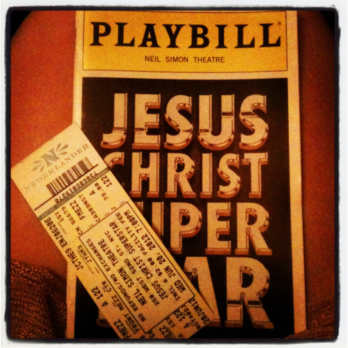 My ticket and program to Jesus Christ Superstar. It was the best.