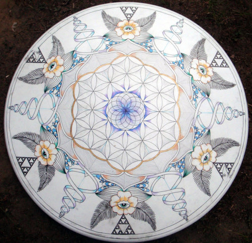 "fuckyeahpsychedelics:  ""Temple Of Life Tabletop"" by perrelet"