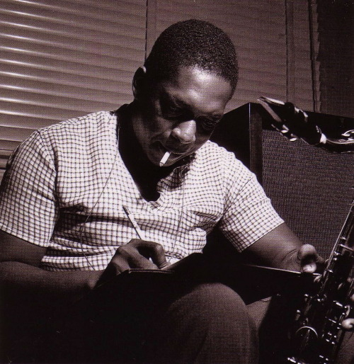 bainer:  John Coltrane during Paul Chambers' Whims of Chambers session, Hackensack NJ, September 21 1956 (photo by Francis Wolff)