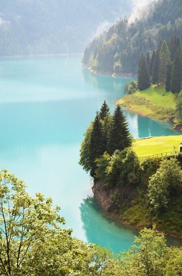 forestland:  bluepueblo:  Turquoise, Lake Sauris, Friuli, Italy photo via xeima  Wow
