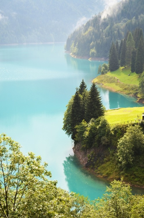 bluepueblo:  Turquoise, Lake Sauris, Friuli, Italy photo via xeima