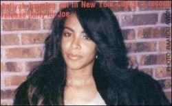 Aaliyah at Joe's album release party, 2000.