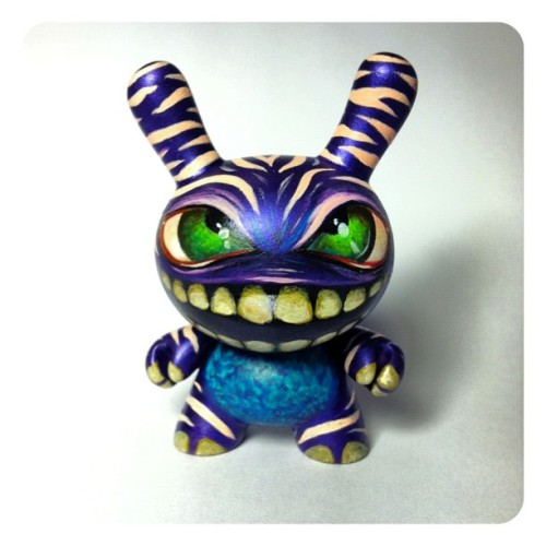 Second of four Dunny monsters finished. #dunny #art @kidrobotny @kidrobotmia @kidrobot (Taken with Instagram)