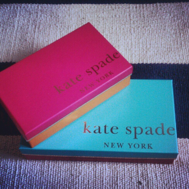 Woo! Kate Spade order came in! Aren't these boxes lovely? (Taken with Instagram)