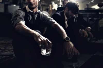 johnny-escobar:  Dress shit (with sleeves rolled up), loosened tie, and drink in hand…that is me every Friday afternoon. via Ketel One