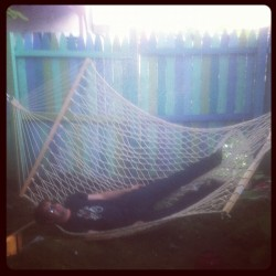 We got a hammock. Either too much string or too much Doug.  (Taken with Instagram)