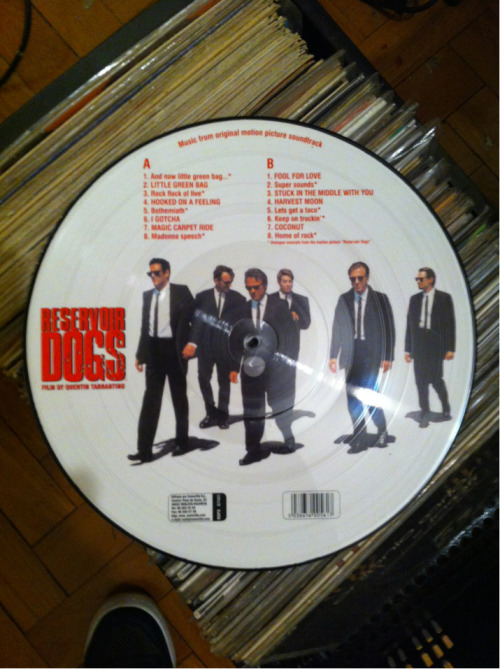 "OST ""Reservoir Dogs"" picture disc."