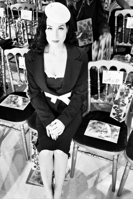 Dita Von Teese in Paris, July 7th, 2005