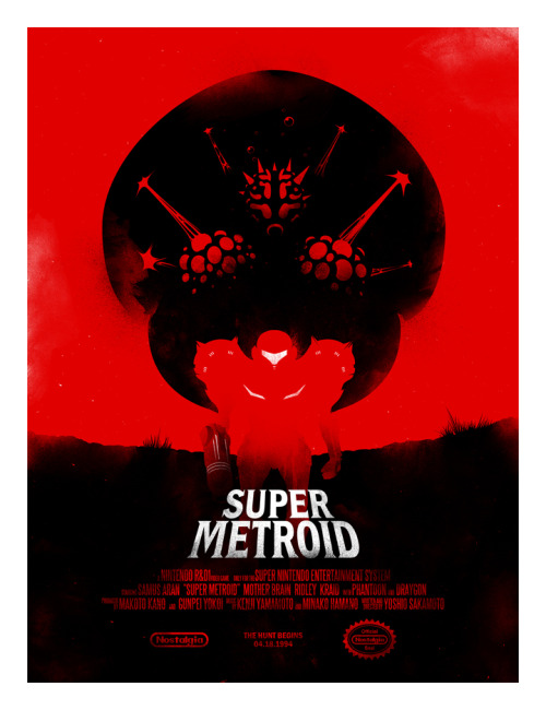 Super Metroid print. Via: iwilding