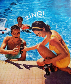 theswinginsixties:  Coca Cola - Zing! 1962 advertisment.