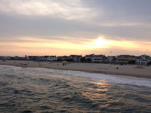 Sunset over Ventnor, New Jersey