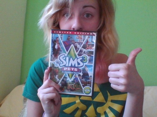 I'm going to spend the day chillin' in my Zelda shirt and playing the Sims 3 Pets while eating more Twizzlers than a person should. And you can't stop me.