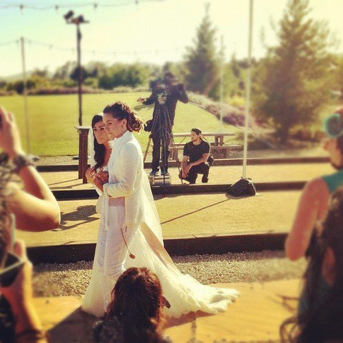 rightwhenwrong:  The happy couple walking down the aisle!!!