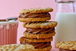 II heart cookies, read about my obsession Peanut Butter Cookie Sandwiches with Brownie Batter Frosting (recipe)