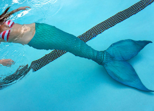 xnightwalkerx:  itssokawaii:  wickedclothes:  Custom Realistic Latex Mermaid Tails  Made to order neoprene and latex mermaid tail! This can be made in any colors, any size and with any fluke shape you want. These tails are made to be swam in! Sold on Etsy.  My dreams… they can come true…  *screaming*
